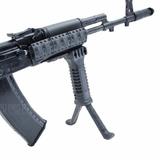 Тактическая рукоятка-сошки черная на оружии, DLG Tactical