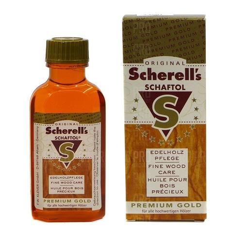 Оружейное масло для дерева Scherell Schaftol  Premium Gold 75 ml
