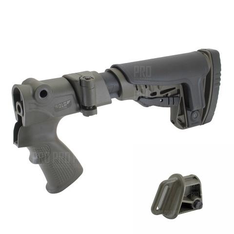 Складной приклад на МР-135, -155 олива, DLG Tactical