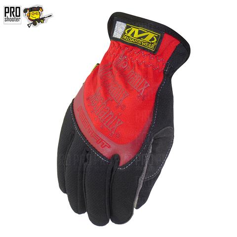 Перчатки стрелковые Mechanix Fast Fit MFF (Красный цвет)