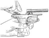 Установка курка при полной разборке пистолета