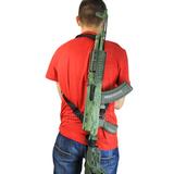 Возможно разделить ремень на две лямки и носить оружие на манер рюкзака