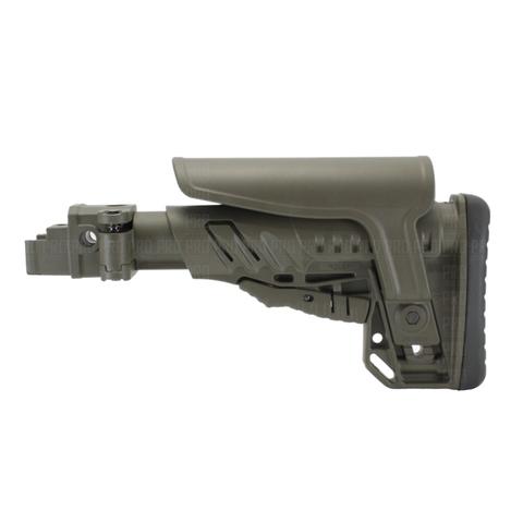 Пластиковый приклад на АК-74 вид слева