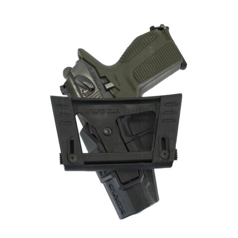 Кобура на пистолет Макарова поясная с кнопкой и углом наклона 24°