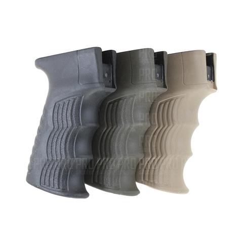 Прорезиненная рукоятка АК в трех цветах, DLG Tactical