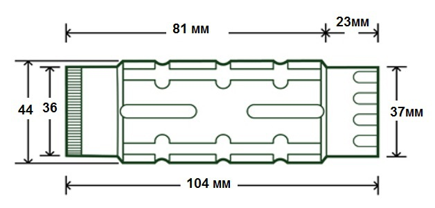 Магнифер для коллиматора откидной Leapers 3x