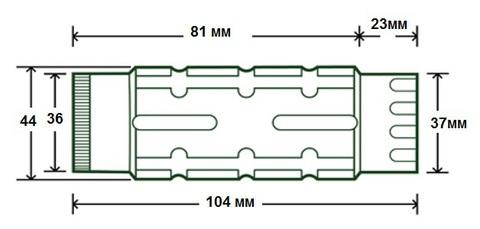 Магнифер UTG x3 размеры.