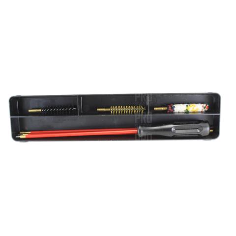 Набор для чистки оружия нарезного 8 мм калибра, металлопластиковый шомпол