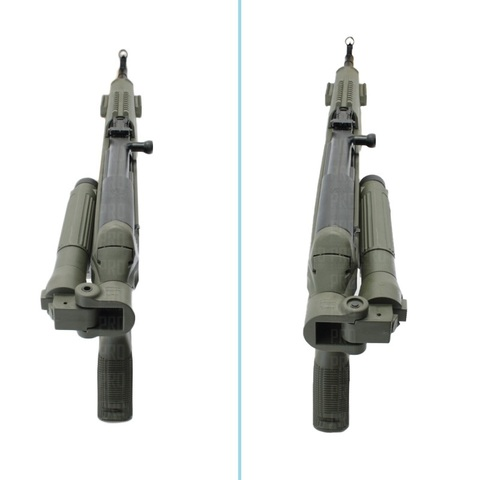 Ложе для СКС Fab Defense со сложенным направо и налево прикладом