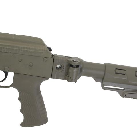 Складная труба на АК с телескопическим прикладом на оружии