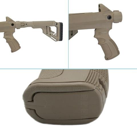 Складной приклад, пистолетная рукоятка и отсек для хранения в ней