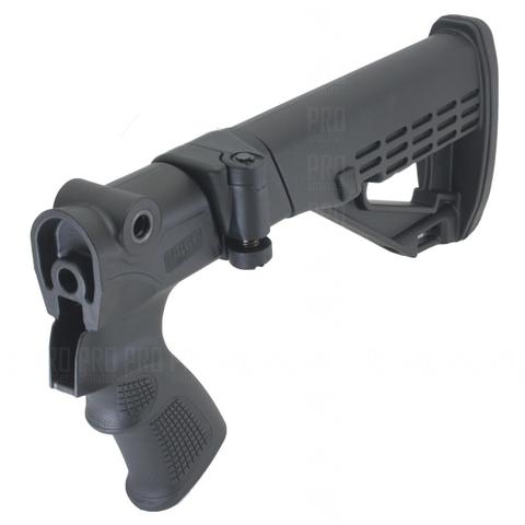 Складной телескопический приклад на МР-155, DLG Tactical