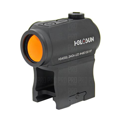 Коллиматорный прицел Holosun HS403GL на планки Weaver и Pikatinny.