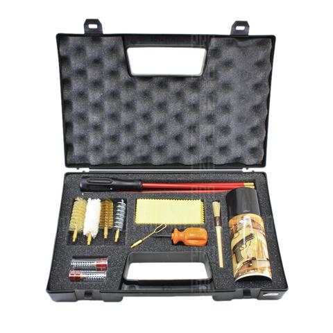 Набор для чистки оружия гладкоствольного 20 калибра полный, металлопластиковый шомпол