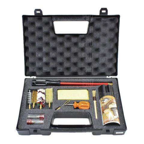 Набор для чистки оружия гладкоствольного 16 калибра полный, металлопластиковый шомпол