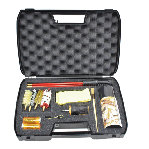 Набор для чистки оружия гладкоствольного 12 калибра полный, металлопластиковый шомпол