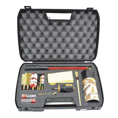 Набор для чистки оружия гладкоствольного 12 и нарезного 7.62 калибра полный, металлопластиковый шомпол