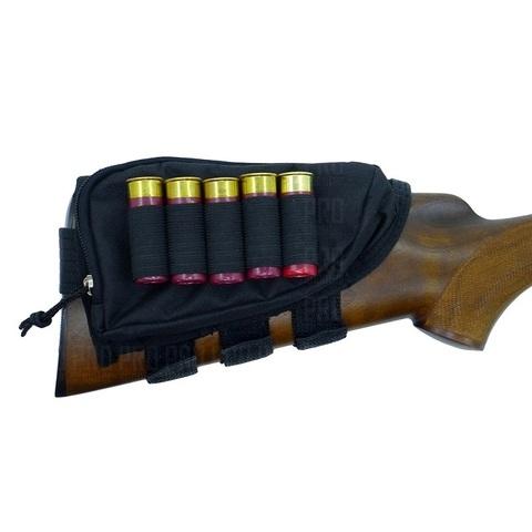 Подщечник на приклад с патронташем 12 калибра на 5 патронов и карманом, Military Equipment